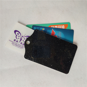 Free Sample Promotion Gift Plastic Acrylic Custom Print Glitter Card Holder Id Card Holder Wallet Bus IC Card Holder Wholesale