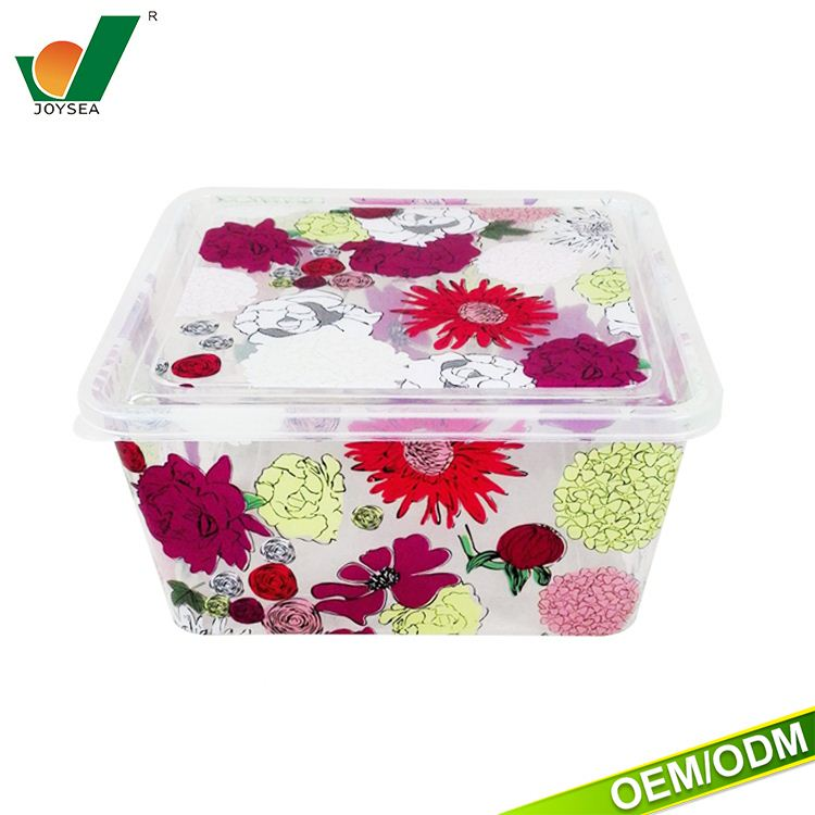 Exquisite gorgeous pattern can be customized logo food containers vacuum bread box