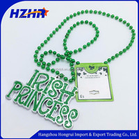 St. Patrick's Day Green Mardi Gras Shamrock Bead Necklaces St patricks day beads