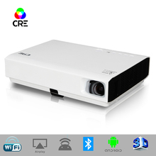 LED Android Projector 3000 Lumens Mini Pico beamer Dlp WiFi Home Projector