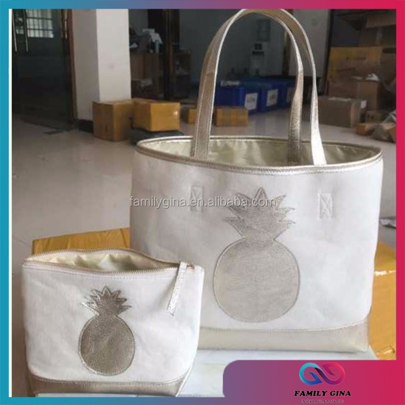 Wholesale Monogrammed Pineapple Bag Set