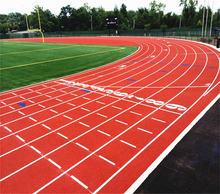 tartan track professional Stadium synthetic racetracks rubber running track for Sport stadium flooring