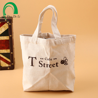 Custom printed promotional cotton tote bag with logo print