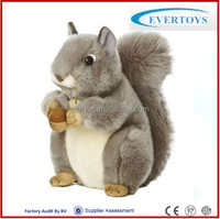 Plush Material and caterpillar Type Aurora World Miyoni Grey Squirrel