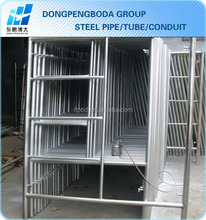 DPBD BS1139 hot dip galvanized scaffolding pipes