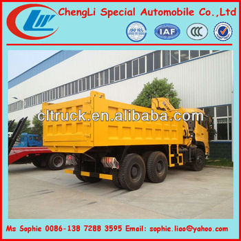 Dongfeng 30t dump truck with crane, tipper truck with crane