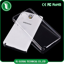 hard plastic mobile back cover crystal clear poly carbonate phone case plastic for samsung s5 case