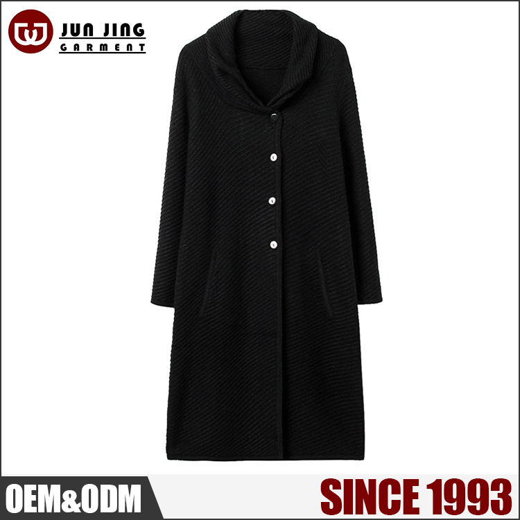 China wholesale europe single-breasted long warm winter coat for women