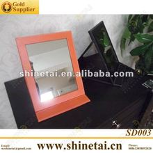 PU leather Made Spectacle shop mirror for optical shops