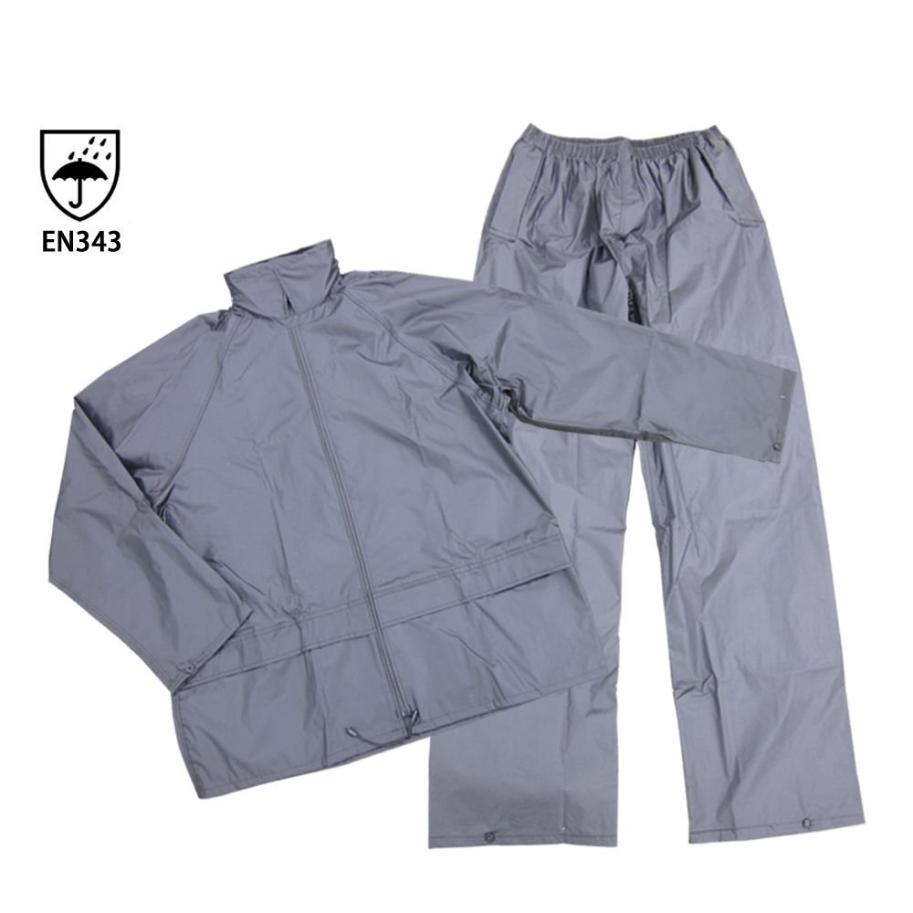 Custom safety raincoat cheap rainsuit mens rainwear