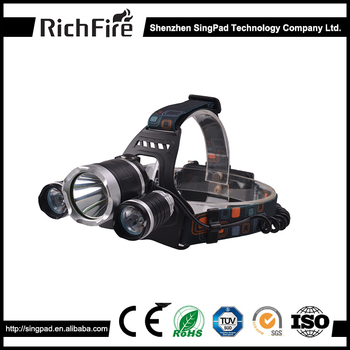 USB rechargeable 2400LM most powerful camping headlamp light