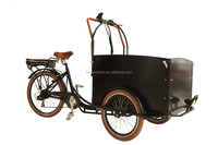high quality family use electric cargo bicycles with three wheels