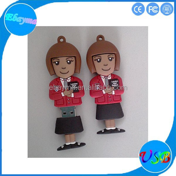 custom design pvc usb flash drive gift usb Crafts kids usb pen drive