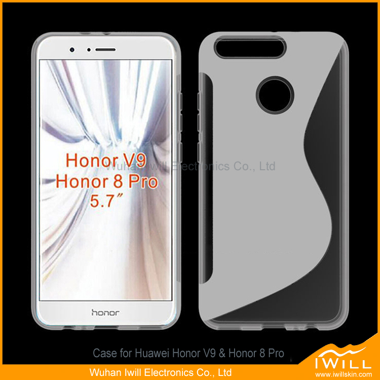 Hot Selling S Line TPU Gel For Huawei Honor V9 Rubber Case Cover , For Honor 8 Pro Case