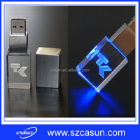 Crystal USB Flash Drive with 3D Logo 4GB 8GB 16GB 32GB usb Memory Stick