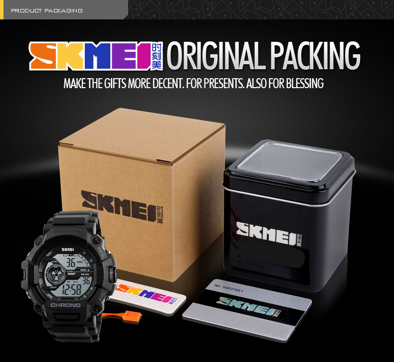 camouflage Plastic Skmei 1233 men's military watches