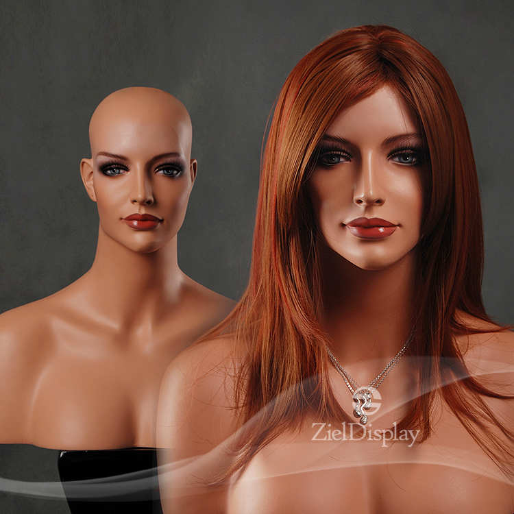 African Fiberglass Women Makeup Mannequin Head for wigs