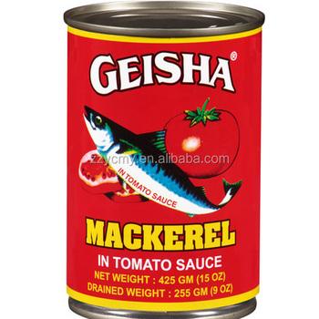 Fish In Tomato Sauce - Buy Geisha Mackerel Fish In Tomato Sauce ...