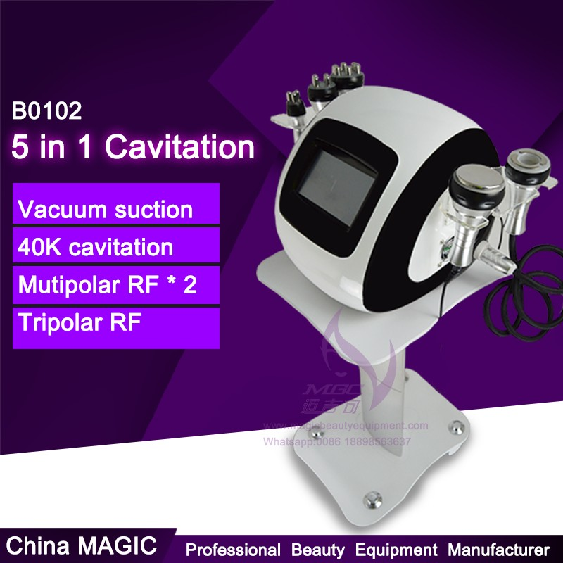 B0102 5 in 1 Cavitation RF Vacuum Belly Fat Burning Slimming Device