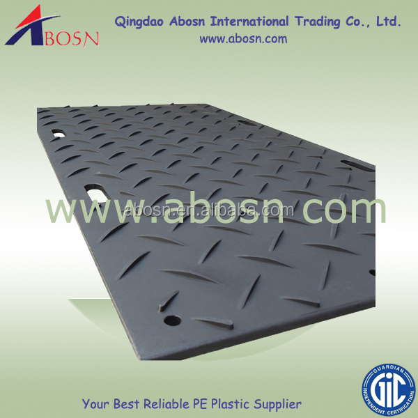 Light weight plastic road mat similar to dura base mat/track panels