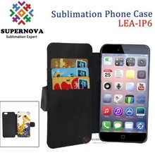 Heat Press Flip Leather Case for iPhone 6, 4.7inch