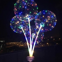 Factory Wholesale Festival Christmas Decoration Flashing Light Led Balloon For Party