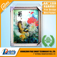 Alibaba Beauty 3D wall hanging picture for business gifts flower 3D