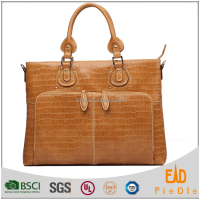 J1035-A1616 factory price Crocodile briefcase lady elegant leather handbags wholesale fashion designer handbags