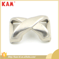 Custom fashion X-shape design special metal silver buckle for bag