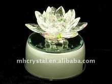 Crystal Lotus with Rotating Led light Stand MH-H0059