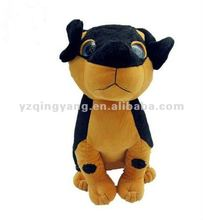 two colour assorted dog plush toys with free sample
