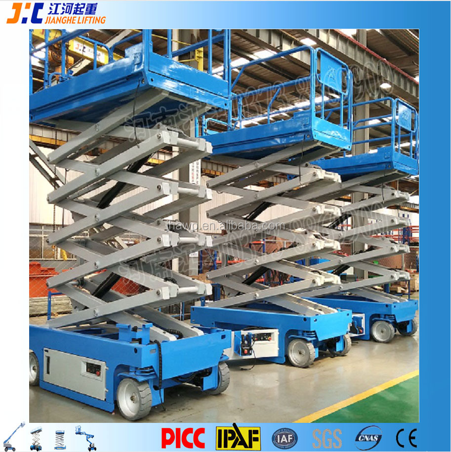 12m Movable Man X Lift Self Propelled Mobile Electric Scissor Lift Scaffolding from China