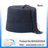 black fashion muslim hat with tassel