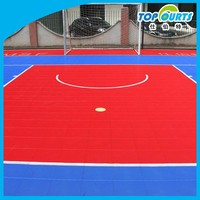 Portable interlocking outdoor futsal court floor