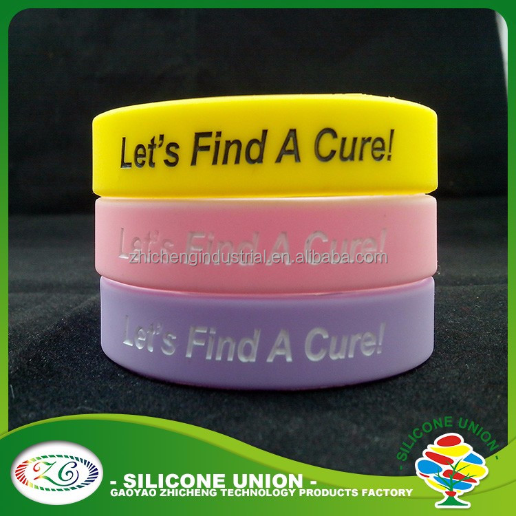 wholsale silicone wristband inspirational silicon bracelet with debossed logo fill ink can write you logo