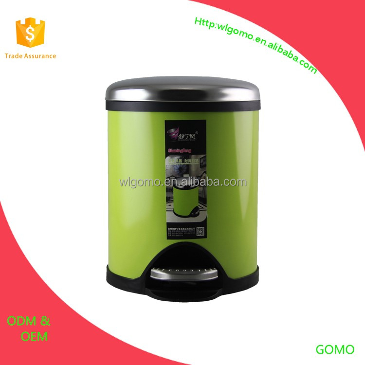 stainless steel trash can/waste bin with pedal/tin can