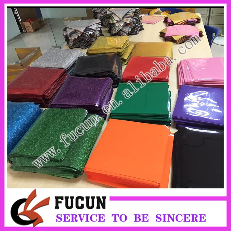 Top Korea quality fabrics textiles t shirt iron on hot vinyl glitter ,PU heat transfer vinyl sheet for clothing 10*10',12*10'
