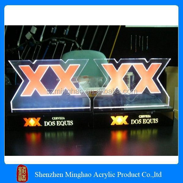 Hot sale acrylic sign for led light bases