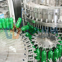 Carbonated Mango Bottle Washing, Filling and Sealing 3-1 Unit Machine With 32 Heads