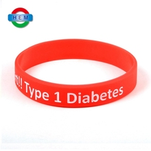 Customized eco-friendly free sample rubber bracelets with words for promotional