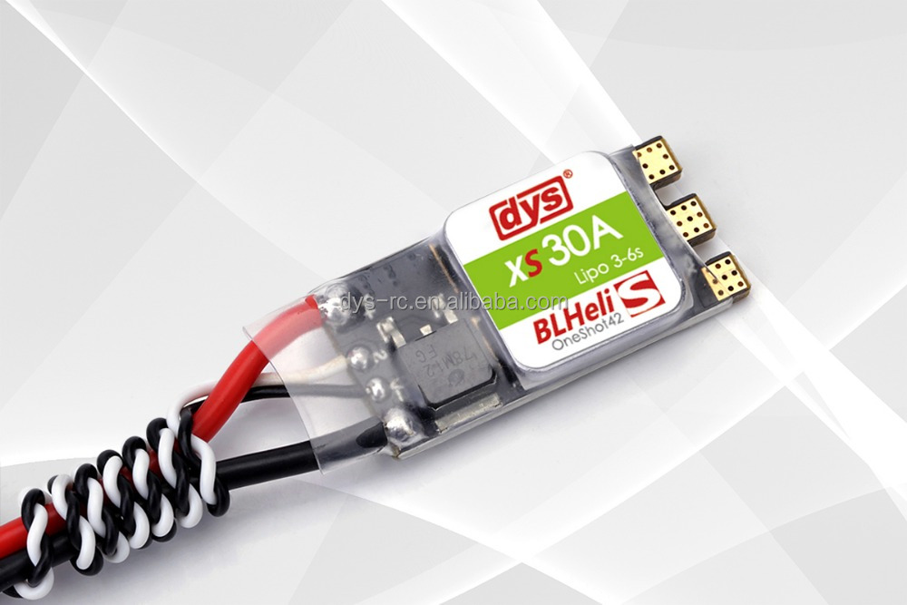 DYS FPV XS30A 30a esc 3-6s with Silabs EFM8BB2 Oneshot42/Multishot and damped light BLheli_S firmware for racer frame