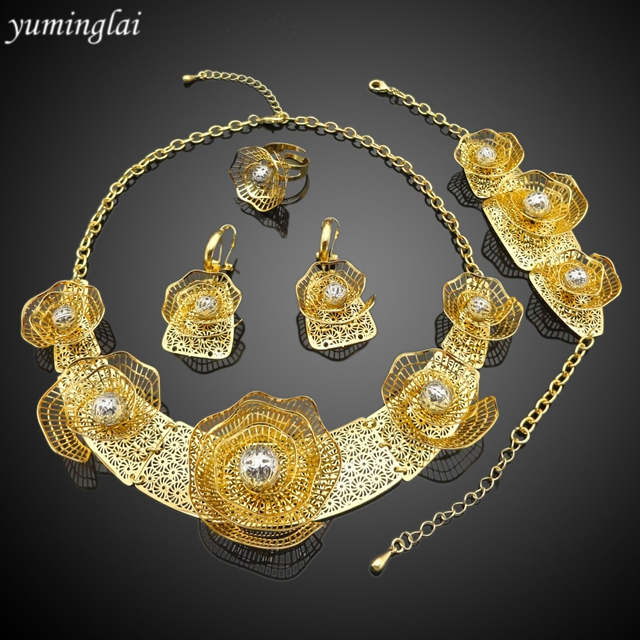 African wedding jewellery designed bridal jewelry set 24k gold dubai