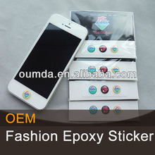 Round epoxy skin sticker for cell /smart phone