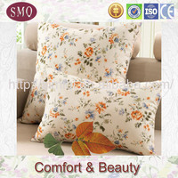 linen decor big round chairs with cushion folding cushion bed digital printing pillow