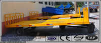 low bed platform trailer heavy duty low flatbed trailer cargo trailer with hurdles in high quality