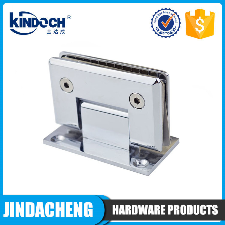 90 degree zinc alloy wall to glass shower door hinge