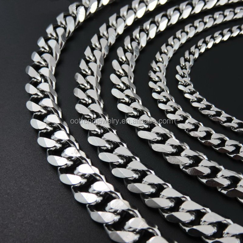 Large chunky 6cuts cuban chain large costume jewelry necklace