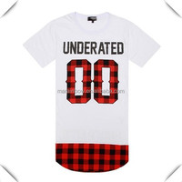 custom longline hip hop t shirts Fashion Hottest Street wear Style clothes with deginer pattern sublimation printed