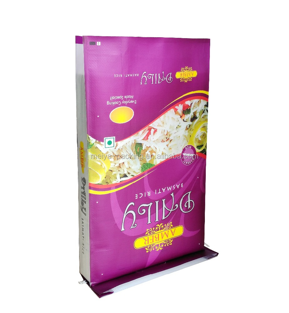 Laminated Material Material and Heat Seal Sealing & Handle perforated plastic <strong>rice</strong> 5kg 10kg 25kg 50kg bags