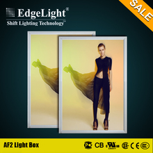 Edgelight hot sale poster picture frame led lighting box of latest gowns designs